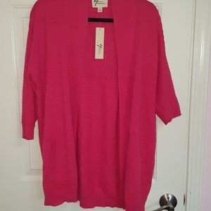 Andrea Jovine small hot pink cardigan
